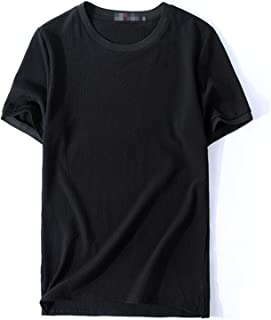 Men's L-8XL Short Sleeve Athletic T-Shirt Summer Casual Workout Sports Shirts,Short sleeve button down shirt (Color : Blac...