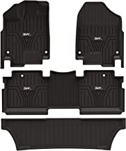 3W Floor Mats for Honda Odyssey 2018 2019 2020-3 Rows Seating Full Sets All Weather Protection Custom Fit Car Carpet Floor Liners with Odorless Heavy Duty TPE, Black