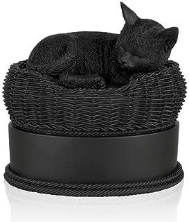 black cat urn