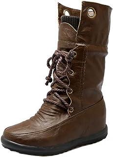[KemeKiss] レディース ショートブーツ インヒール ブーツ 柔らかい
