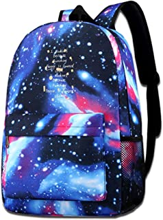 dsgsd Bolso de escuela I Workout Because Punching People is Frowned Upon Starry Sky Book Bag Quality Big Galaxy Backpack
