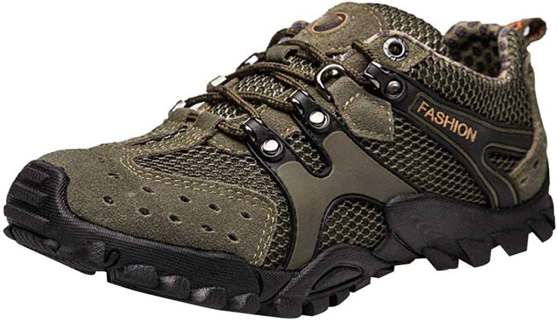 FuweiEncore Men's Outdoor Climbing shoes Climbing shoes Casual Sport shoes Water shoes Mesh Breathable Quick Drying River shoes (color   Khaki, Size   43EU)