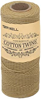 Tenn Well Bakers Twine, 3Ply Kitchen Cotton Twine Food Safe Cooking String for Trussing and Tying Poultry Meat 328Feet/100...