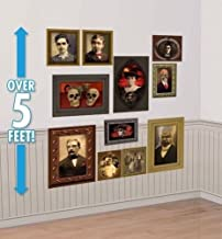 Lunarland GOTHIC PORTRAITS Haunted Pictures Halloween Mansion Party Decorations Wall Props
