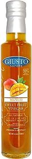 Giusto Sapore Mango Sweet Fruit Italian Vinegar 8.5oz - Premium All Natural Infused Gluten Free Gourmet Brand - Imported f...