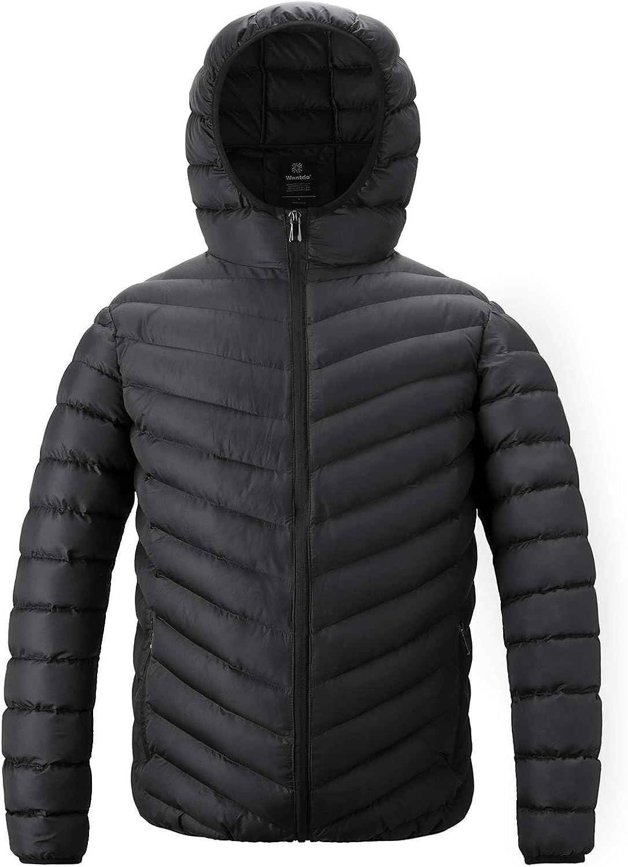 0e220c87e Wantdo Men's Quilted Hoody Jacket Jacket Jacket Warm Insulated Coat Winter  9fa87e