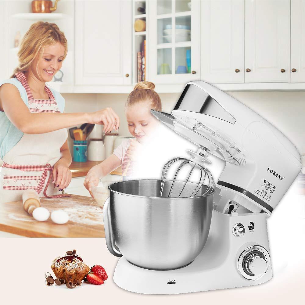 Robot de cocina universal Sinbide Profi, robot de cocina, picadora, robot de cocina, batidora, amasadora, hogar, robot de cocina, acero inoxidable, batidora, 1000 W, 6 velocidades, 5 litros: Amazon.es: Hogar