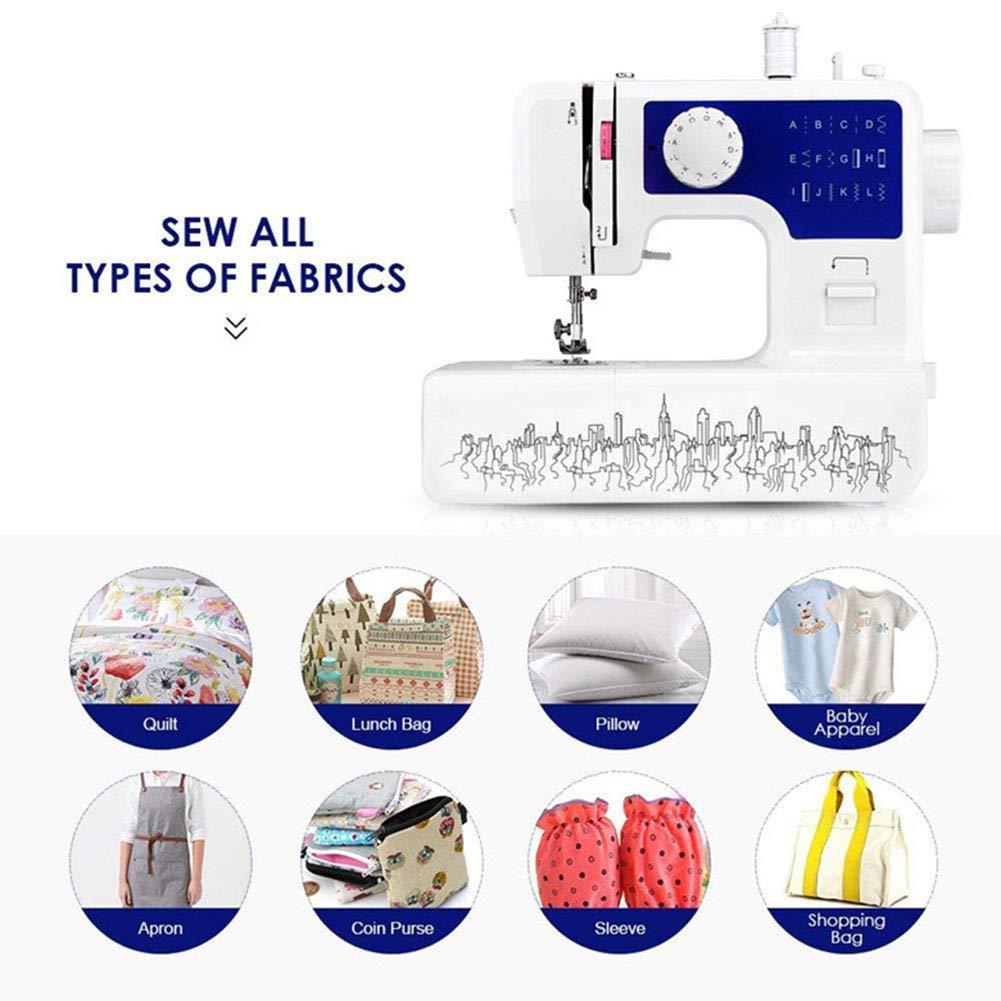 Portátil de la máquina de coser, 12 puntos de sutura 2 Speed ...