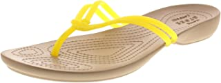 crocs Womens Isabella Flip Flops in Lemon