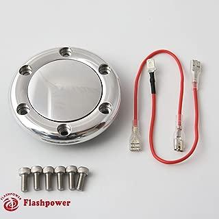 Billet Horn Button for 6 Bolt Steering Wheel Flashpower,MoMo,NRG High Polished