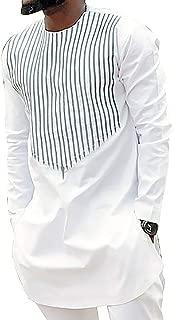 Mens Fashion Dashiki Print T Shirts African Shirts Print Long Sleeve Tops Blouse