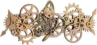 BLESSUME ヘアアクセサリ- ヘア飾り 歯車 やギヤ スチームパンク 合金 ゴル-ド 飾り …