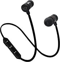 IJOY Forc Bluetooth Wireless Sport in Ear Metal Earbuds w SweatProof Splash Proof Noise Cancelling Headphones, Mic Compatible with iPhone X 8 7 Plus Samsung Galaxy S9 S8 S7 Android Phones (Black)