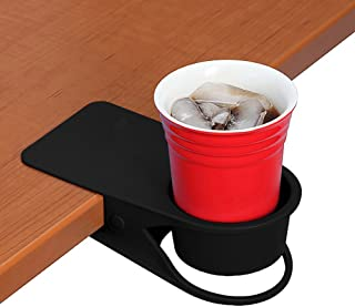 Supercope Drinking Cup Holder Clip- Table Bottle Cup Stand The DIY Glass Clamp Storage Saucer Clip Water Coffee Mug Holder Saucer Clip Design for Home & Office,Black
