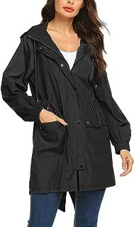 Avoogue Women Lightweight Rain Jacket Packable Hooded Fashion Rainwear Running Jacket