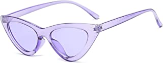 Vintage Sunglasses for Women Triangle Cat Eye Sunglasses Resin UV400 Protection Outdoor Travel Driving Eyewear