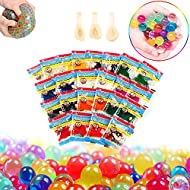Water beads, Water gel beads 24 Pack, Water beads for sensory play colorful, Magic Vase Filling water beads, Water growing Beads for Plants Home Decor, kids and adult Stress Release Water beads