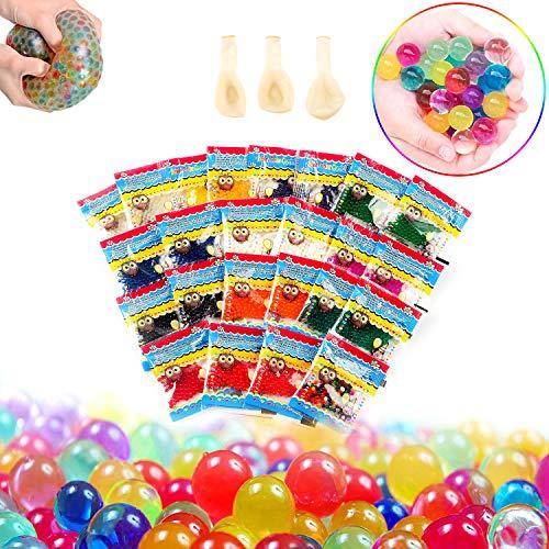 Perlas Agua, Bolas Gel 24 Pack, Bolas Hidrogel Multicolor