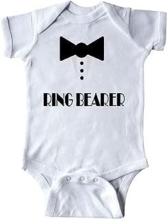 Ringbearer Mock Tux Wedding Tuxedo Infant Creeper