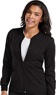 Med Couture Touch 2-Pocket Zip Front Scrub Jacket for Women