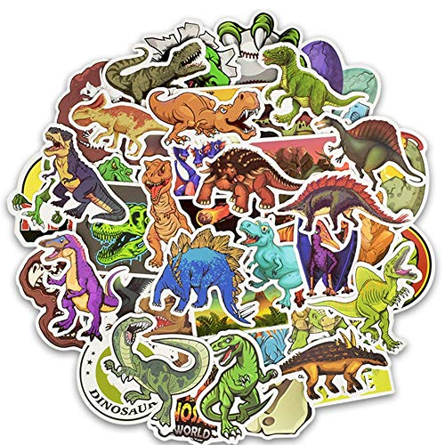 Nature Stickers Variety Vinyl Sticker Decals Laptop Stickers Dinosaur Stickers Pack for Car Bumper Helmet Suitcase Water Bottle Stickers 50PCS (Dinosaur)
