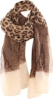 ⭐️ QIQIU New Women Fashion Bali Yarn Female Leopard Lace Dual-Use Ladies Autumn and Winter Shawl