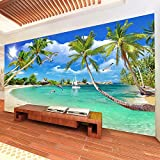 SFALHX Papel pintado Murales Costa del sol pared no tejido papel de pared dormitorios/salón/hotel/400x280cm (WxH)