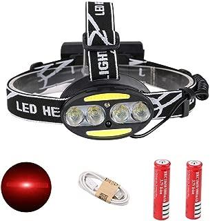 WYL Headlamp Head Torch LED Headlight Headlights Cob Infrared Sensor Headlights Flashlights USB Rechargeable Battery Headlights