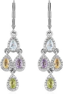 Best multi gemstone chandelier earrings Reviews