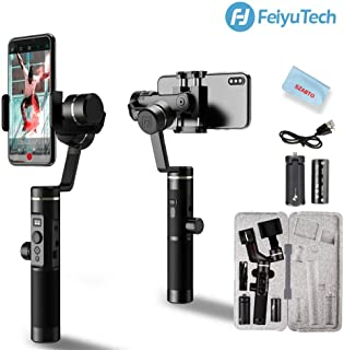FeiyuTech SPG 2 3-Axis Gimbal Stabilizer for Smartphone iPhone Xs X 8 7 Plus Samsung Galaxy S9+ S9 S8 Gopro 7 6 Splashproof Audio Transmission Bluetooth Dual Mode Connection OLED Display 14H Runtime