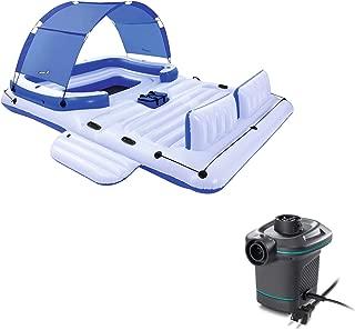 Bestway CoolerZ Tropical Breeze 6 Person Floating Raft + Electric Air Pump