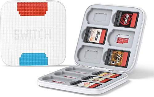 lowest UGREEN Game Card Case outlet online sale Compatible for Nintendo discount SwitchPortable & Thin Hard Shell Box Protective Shockproof Cartridge Holder Carrying Storage Case Box with 12 Cartridge Slots outlet online sale