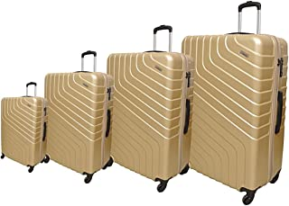 Track Luggage Trolley Bags 4 Pcs Set, Gold