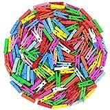 Namgiy Pinzas de madera para fotos, pinzas de madera, para manualidades, oficina, marcapáginas, 100 unidades, color al azar