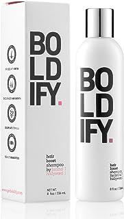 BOLDIFY Hair Thickening Shampoo - All Natural Shampoo, No Sulfates, Biotin Shampoo For Hair Growth, Hair Loss Shampoo with Vitamin Complex, Instantly Stimulates Thicker & Fuller Hair - 8oz