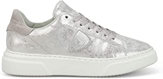 PHILIPPE MODEL Women's BGLDMV02 Silver Leather Sneakers