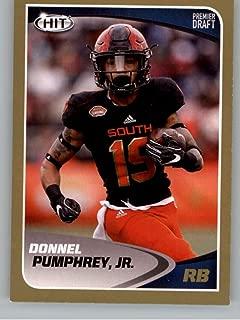 2017 SAGE Hit Premier Draft Gold Football #71 Donnel Pumphrey San Diego State Aztecs