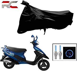 Riderscart All Season (Weather) Waterproof Bike Cover for Tvs Scooty Pep Plus Indoor Outdoor Protection Combo with Storage...