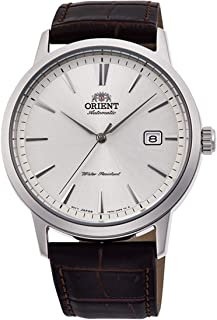 Orient Men's 41.6mm Leather Band Steel Case Automatic Watch RA-AC0F07S10B