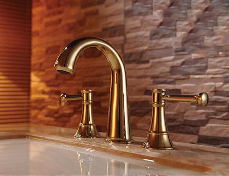 Qmpzg-Three Wash-Basin Mixer Waschbecken unter dem Tap-Basin Heie und kalte Dusche Die Messing tippen Sie auf B
