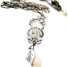 As Seen on The Vampire Diaries Handmade Vintage Swarovski Crystal Elena's Necklace TVD