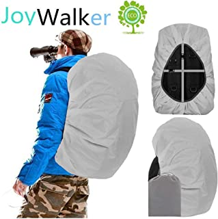 Joy Walker Waterproof Backpack Rain Cover for (15-90L), Upgraded Anti-Slip Cross Buckle Straps, Triple Strengthened Layers for Hiking Camping Traveling Cycling