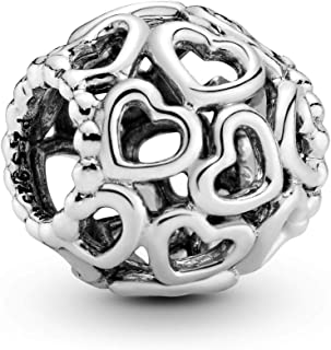 Jewelry - Hearts All Over Charm in Sterling Silver