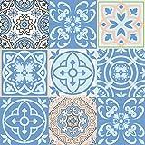 Mi Alma Calcomanías de Azulejos, 24 Unidades, vinilos Impermeables para baño, Cocina y baño, calcomanías de Pared Talavera
