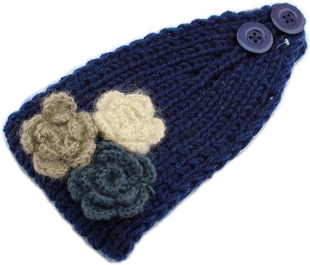 YSJOY Max 87% OFF Elegant Women Knitted 3 Winter Warm Hair ! Super beauty product restock quality top! Headbands Flowers