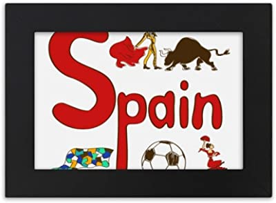 DIYthinker Spain National symbol Landmark Pattern Desktop Photo Frame Black Picture Art Painting 5x7 inch