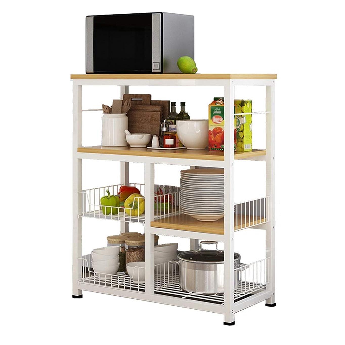 免疫崇拝します賢いキッチン、 収納ラックカトラリーキッチン用品果物と野菜のステンレス鋼収納ラック着陸多層ラック 家具