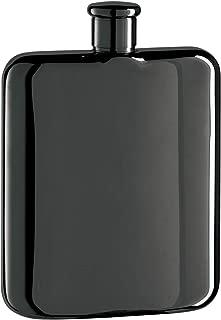 Oggi Plated Stainless Steel Mirror Finish Hip Flask, Nickel