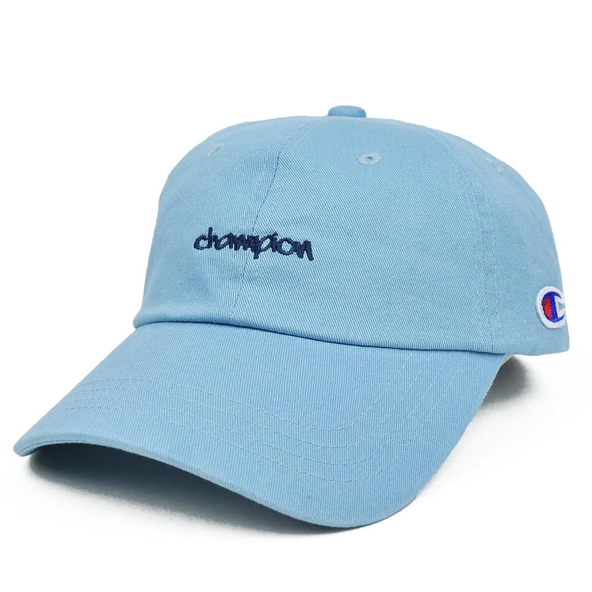 端課税象(チャンピオン) CHAMPION 6-PANEL STRAPBACK CAP キャップ ONESIZE Light Blue