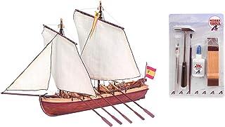 Outletdelocio. Artesania Latina 19014. Maqueta de Barco en Madera. Lancha del Capitan Santisima Trinidad + Herramientas. 50063/57395